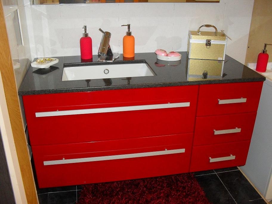 mobiltesino mobile da bagno laccato rosso moderno laccato lucido ... - Mobiltesino Arredo Bagno