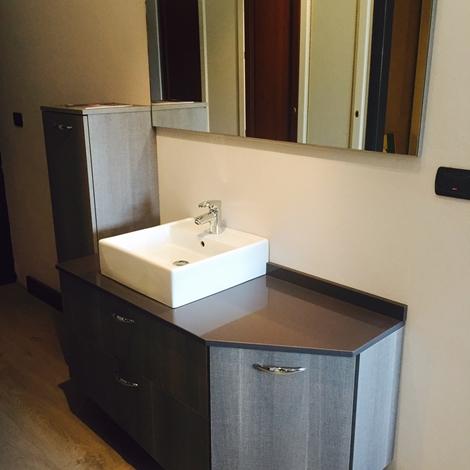 Bagno area arredamenti in laminato materico king old con piano in agglomerato di quarzo l 161 - Laminato in bagno ...
