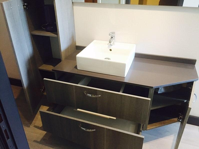 Bagno area arredamenti in laminato materico king old con piano in agglomerato di quarzo l 161 - Mobile bagno laminato ...