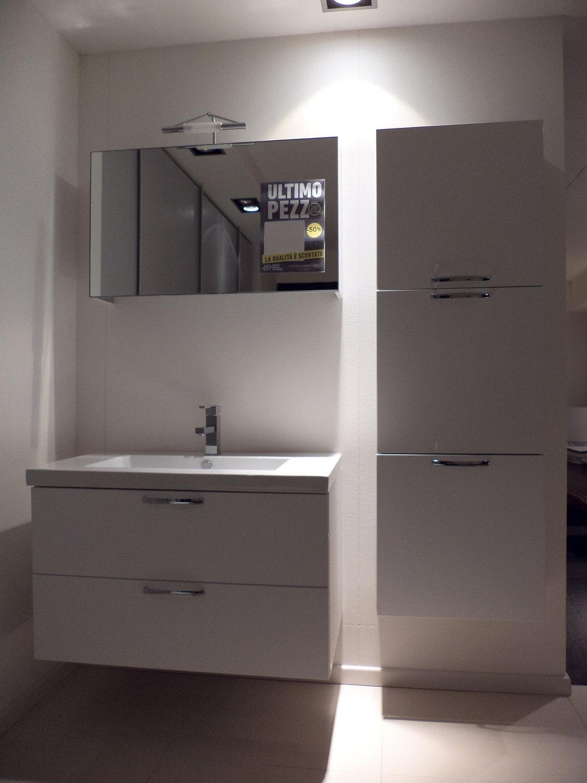 Bagno bianco frassinato arredo bagno a prezzi scontati for Arredo bagno bianco