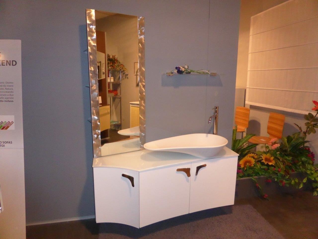 Bagno bianco lucido scontato arredo bagno a prezzi scontati for Arredo bagno bianco