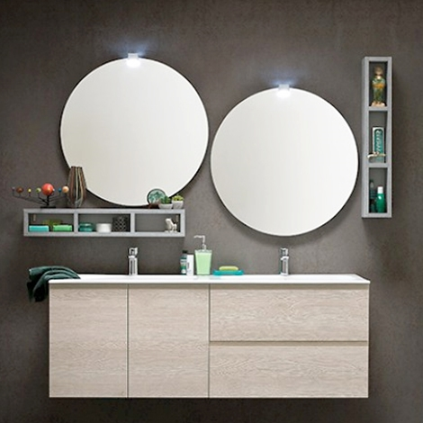Bagno compab sconto 36 con lavabo doppio e doppia - Dimensioni lavabo bagno ...