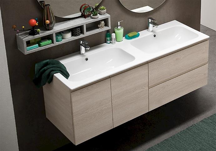Bagno Compab sconto -36% con lavabo doppio e doppia ...