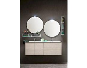 Bagno Compab sconto -36% con lavabo doppio e doppia specchiera