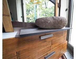 Bagno  cross  in legno e crash bambu  mobile da bagno A PREZZI OUTLET