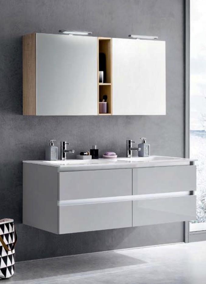 Bagno doppio lavabo geacryl arredo bagno a prezzi scontati - Lavabo doppio bagno ...