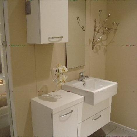 Pensile bagno bianco opaco idee creative di interni e mobili for Arredo bagno bianco
