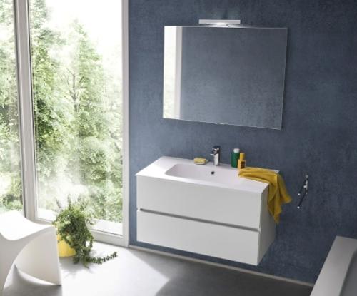 Bagno kios modello tris laccato lucido arredo bagno a - Tris tappeti bagno ...