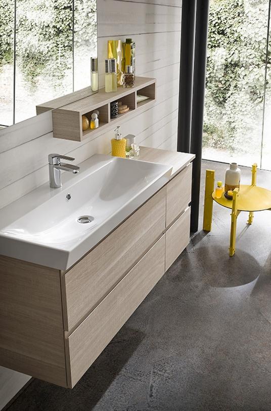 Composizione mobile bagno moderno sospeso compab arredo for Composizione bagno
