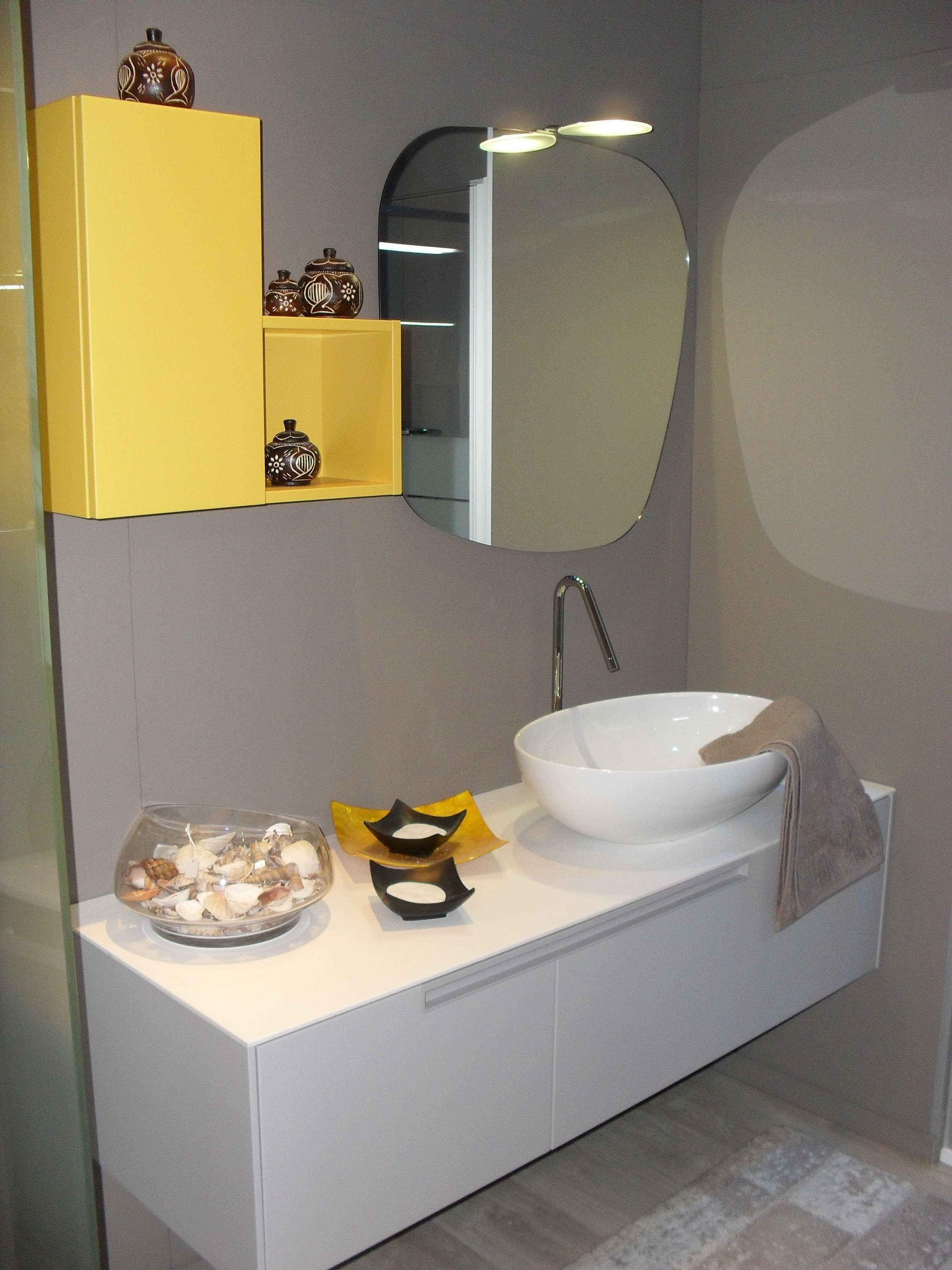 clikad bagno moderno moderno : Outlet Arredamento > Arredo bagno BAGNO MODERNO GRIGIO PERLA E GIALLO ...