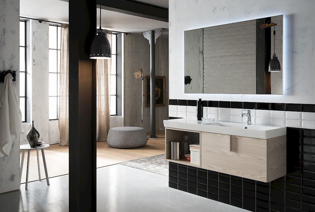 Bagno moderno sospeso compab scontato del 41 arredo for Arredo bagno moderno sospeso