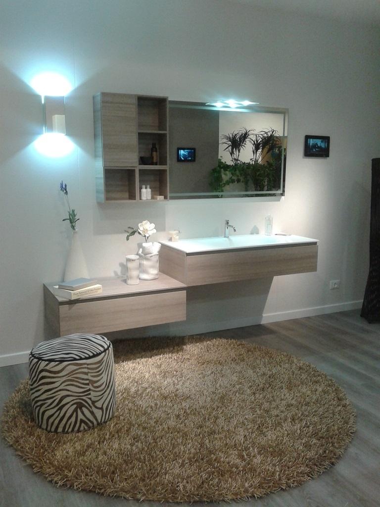 bagno scavolini modello rivo in decorativo colore larice zolfino scav701_completo di accessori