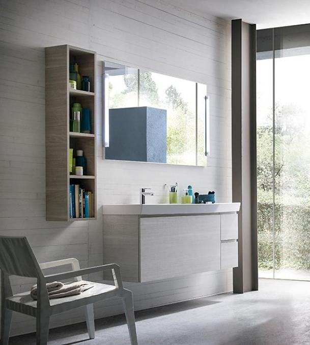 Compab composizione bagno moderno sospeso arredo bagno a for Composizione bagno