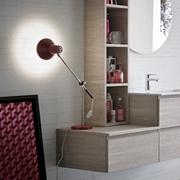 bagno moderno sospeso compab nobilitato e marmo