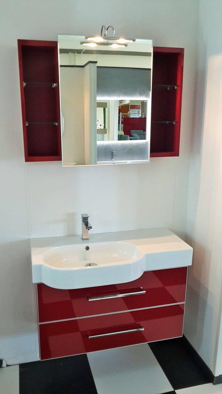 Bagno sospeso laccato rosso lucido a prezzo scontato for Arredo bagno versace