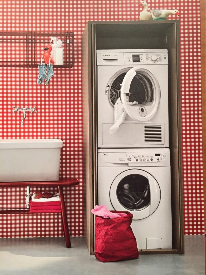 Colonna porta lavatrice asciugatrice scontato del 30 arredo bagno a prezzi scontati - Mobile lavatrice asciugatrice ...