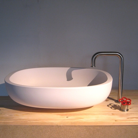 Boffi Miscelatore pipe con lavabo iceland, boffi bathroom Design - Arredo bagno a prezzi scontati