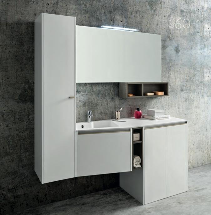 Cerasa movida con mobile lavatrice scontato del 29 for Mobili da bagno moderni prezzi