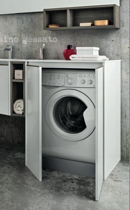 Mobile bagno moderno con lavatrice ispirazione di design for Modelli bagno moderno