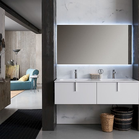 Compab bagno moderno sospeso scontato del 41 arredo for Arredo bagno moderno sospeso