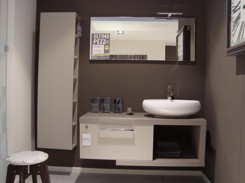 Composizione bagno 8729 arredo bagno a prezzi scontati for Mobile lavabo appoggio