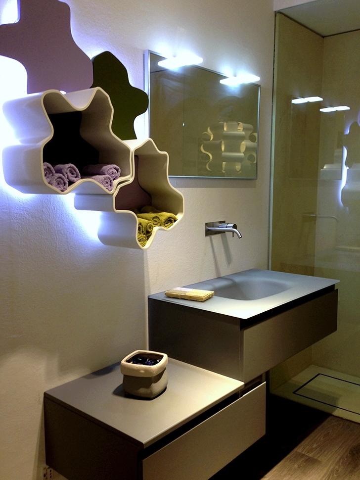 Composizione bagno synergie forme laccato opaco   arredo bagno a ...