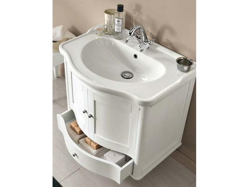 Composizione bagno virginia 75 di eban a prezzi outlet for Arredo bagno prezzi outlet