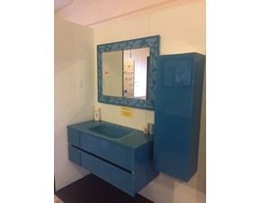 Composizione CRISTALQUATTRO IL VETRO modello Gange con lavabo integrato