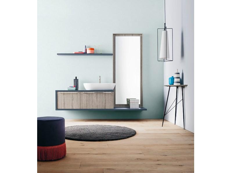 Composizione mobile bagno arbi inka 50 in rovere l 194 cm a prezzo scontato - Mobile bagno prezzo ...
