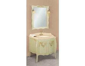 Composizione mobile bagno Giotto decorato cm104 al 50%