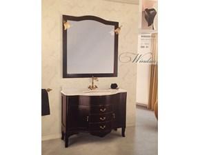 Composizione mobile per la sala da bagno Global Trade Windsor Plus cm108 nero anticato e oro al 50%