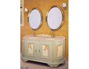 Composizione mobile per la sala da bagno Tintoretto cm160 doppio decorato in stile veneziano