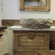 MOBILE VINTAGE NATURAL 18 CASSETTI IN LEGNO IN OFFERTA OUTLET