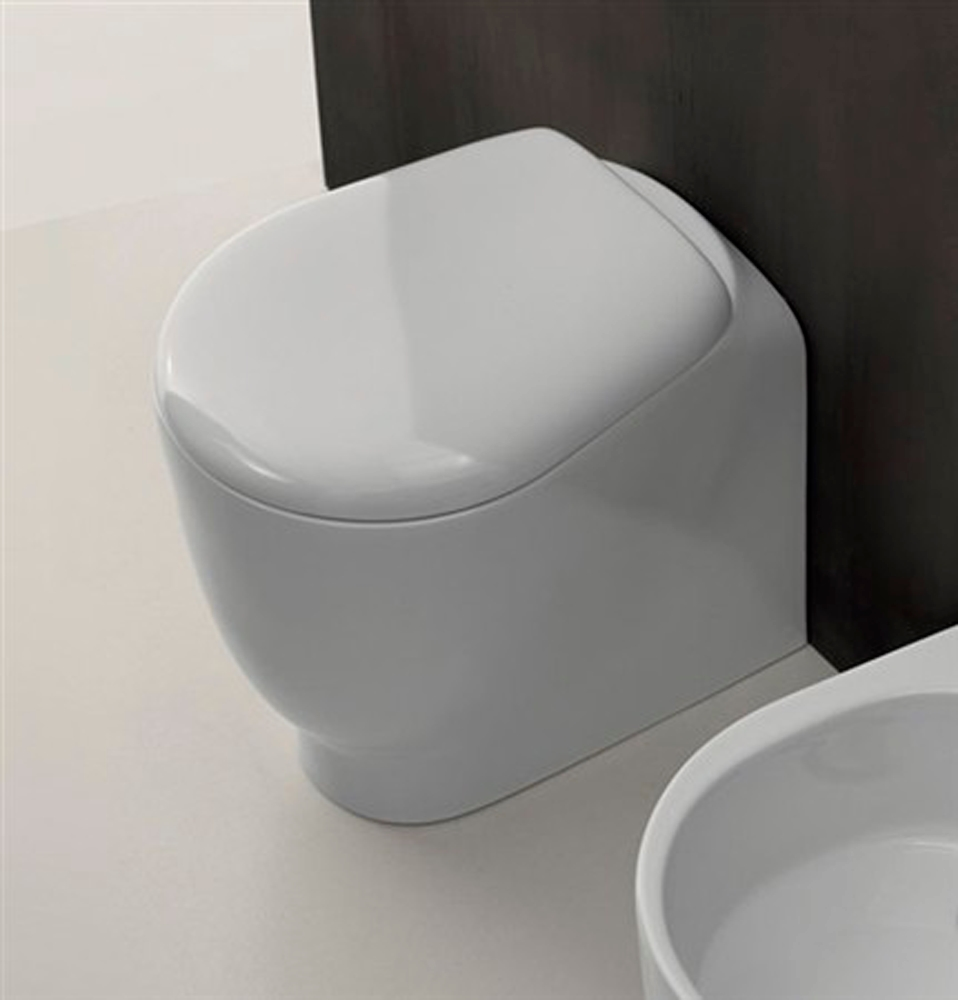 Coprivaso WC Normal by AXA 52 cm soft close in resina termoindurente bianco lucido