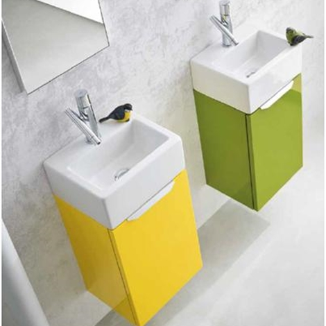 Ideal bagni mobile da bagno doppio laccato lucido arredo - Mini lavabo bagno ...