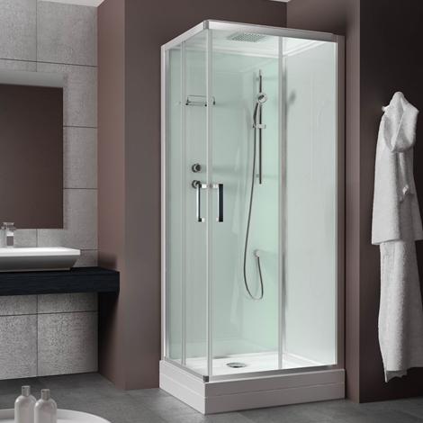 Cabina doccia 70 90 completa infissi del bagno in bagno for Colonne bagno economiche