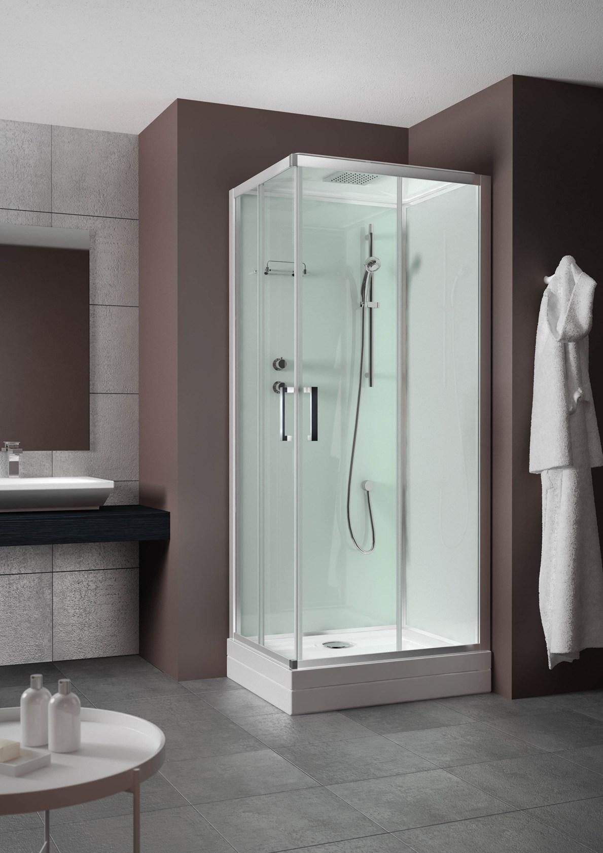 Grandform evobasic cabina doccia 70x90 reversibile - Cabina bagno prefabbricata ...
