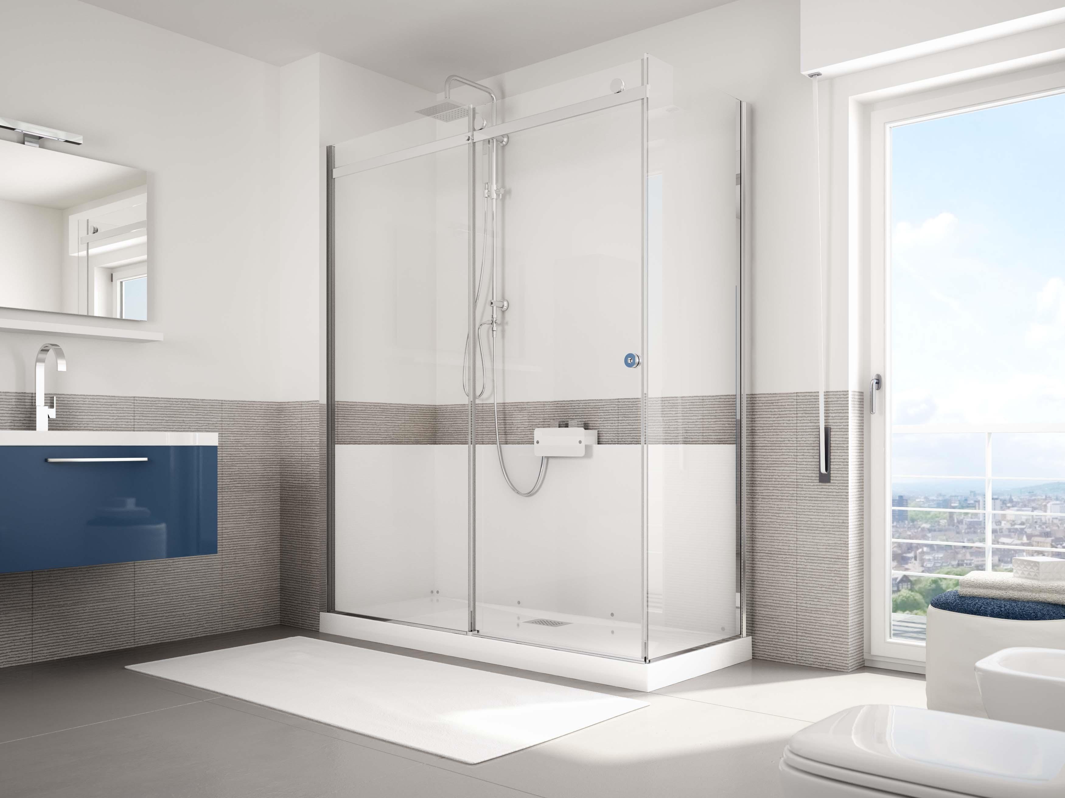 Grandform g magic 170x70 sconto 40 trasforma la tua vasca in una doccia arredo bagno a prezzi - Vasca da bagno con box doccia ...