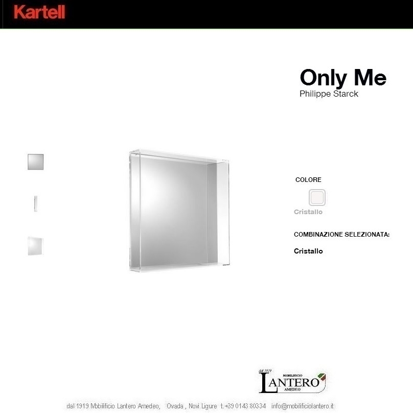 kartell only me, specchio quadrato kartell pronta consegna ... - Kartell Arredo Bagno