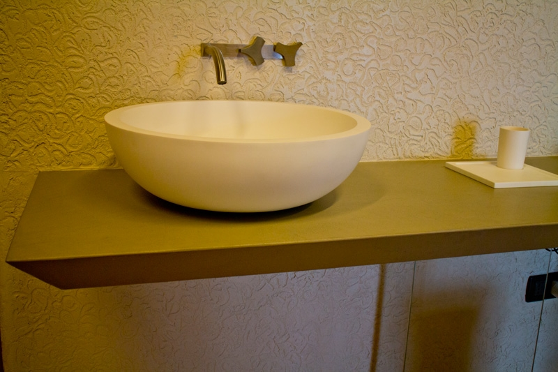 Lavabo sfera in ceramica da appoggio colore bianco - Lavello bagno appoggio ...