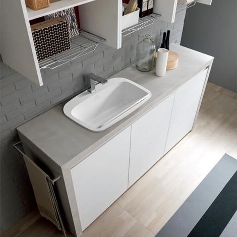 Lavanderia completa con mensole a giorno nuova a prezzo - Mensole arredo bagno ...