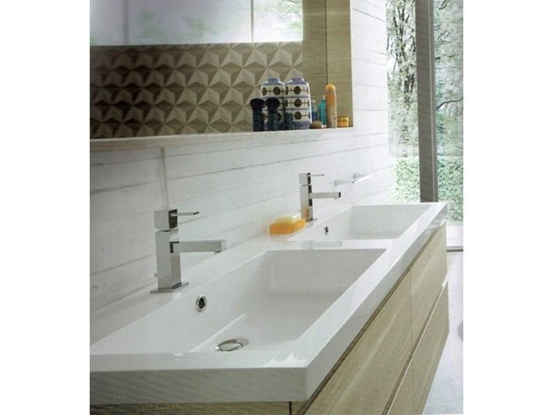 Mobile a bagno con due lavabi compab outlet 30 - Mobile bagno con 2 lavabi ...