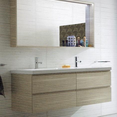 Mobile a bagno con due lavabi marchio compab scontato 30 - Mobile bagno con due lavabi ...