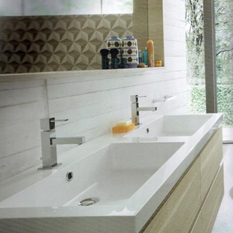 Mobile a bagno con due lavabi marchio compab scontato 30 - Mobile bagno con 2 lavabi ...