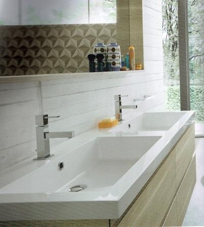Mobile a bagno con due lavabi marchio compab scontato 30 - Bagno con due lavabi ...
