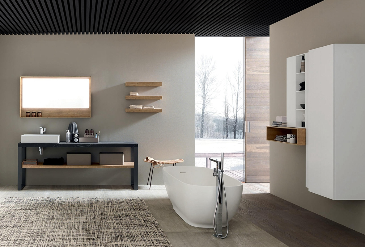 Mobile a terra per bagno con lavandino ad appoggio nuovo for Nuovo arredo camerette prezzi