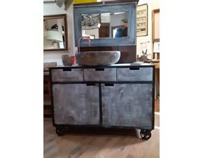 Mobile arredo bagno A terra Nuovi mondi cucine Mobile bagno industriale legno ferro old  in offerta  in svendita