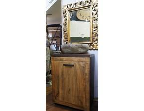Mobile arredo bagno A terra Outlet etnico Mobile bagno newport legno india in offerta  in svendita