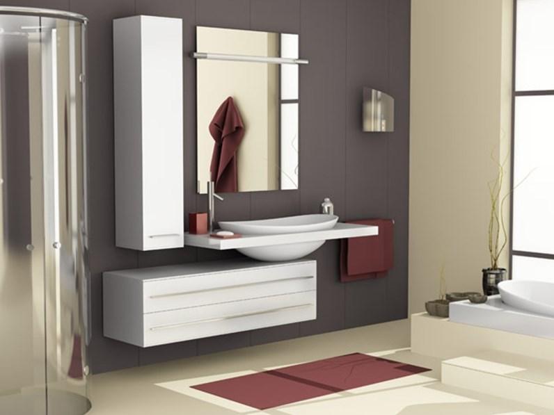Mobile arredo bagno sospeso artigianale vanity a prezzo conveniente