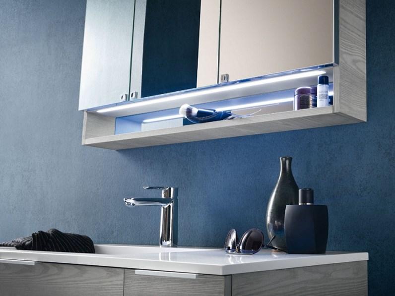 Mobile bagno sospeso compab con specchiera contenitore in for Mobili in offerta